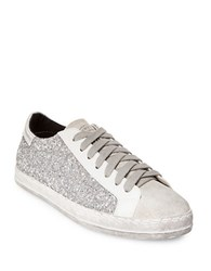Steve Madden Florence Sequin Lace Up Sneakers White