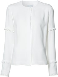 Nellie Partow Round Neck Shirt White