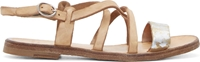 Officine Creative Brown Metallic Accent Sandals