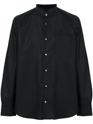 Mauro Grifoni Crew Neck Button Shirt Black