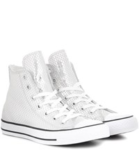 Converse Chuck Taylor All Star Leather High Top Sneakers Metallic