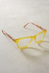 Anthropologie Lesley Reading Glasses Yellow