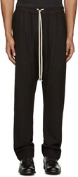 Rick Owens Black Wool Mesh Lounge Pants