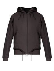 Y 3 Ft Zip Through Hooded Jacket Dark Grey