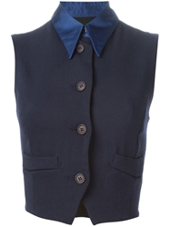 Dolce And Gabbana Vintage Waistcoat Style Cropped Top
