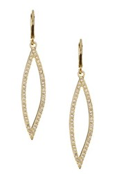 Ariella Collection Open Pave Drop Earrings No Color