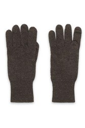 Autumn Cashmere Knitted Gloves Brown