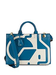 Anya Hindmarch Ephson Nationwide Leather Tote Light Blue
