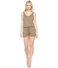 Michael Stars Sleeveless V Neck Romper Olive Moss Women's Jumpsuit And Rompers One Piece