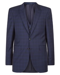 Jaeger Regular Highlight Glen Check Jacket Blue