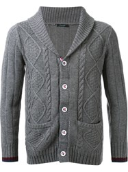 Guild Prime Cable Knit Cardigan Grey
