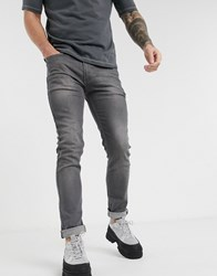 Religion Noize Skinny Fit Jeans In Washed Grey