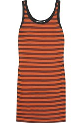 Givenchy Striped Stretch Silk Mini Dress Orange
