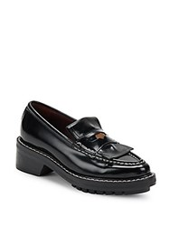 Rag And Bone Anton Leather Penny Loafers Black