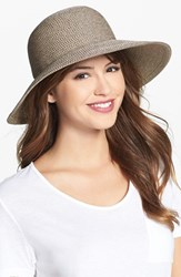 Women's Eric Javits 'Squishee Iv' Wide Brim Hat Brown Bark