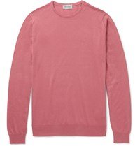 John Smedley Hatfield Sea Island Cotton Sweater Pink