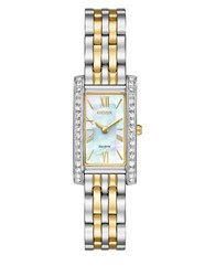 Citizen Silhouette Crystal Stainless Steel Bracelet Watch Two Tone