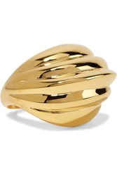 Kenneth Jay Lane Gold Plated Ring One Size
