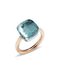 Pomellato Nudo Faceted Blue Topaz Ring