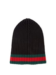 Gucci Ribbed Knit Hat Black