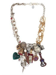 Maria Zureta Multi Pendant And Chain Necklace