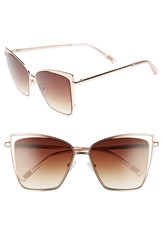 Diff Becky 57Mm Sunglasses Rose Brown Rose Brown