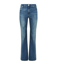 Michael Michael Kors Patch Pocket Flared Jeans Female Blue