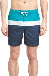 Original Penguin Men's Colorblock Swim Trunks