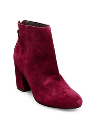 Steve Madden Cynthia Suede Ankle Boots Burgundy