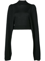Vera Wang Classic Long Sleeve Sweater Black
