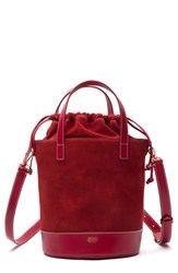 Frances Valentine Large Leather And Suede Bucket Bag
