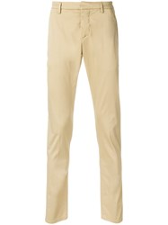 Dondup Designer Tailored Trousers Nude And Neutrals