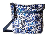 Le Sport Sac Small Cleo Crossbody Hobo Blooming Silhouettes Cross Body Handbags Blue