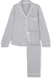 Dkny Signature Cotton Blend Jersey Pajamas Gray