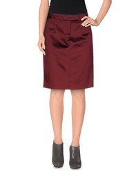 Galliano Skirts Knee Length Skirts Women Maroon