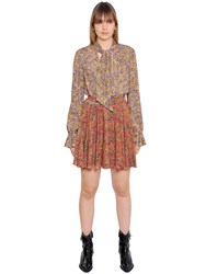 Philosophy Di Lorenzo Serafini Floral Rayon Georgette Dress