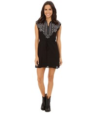 Rock And Roll Cowgirl Sleeveless Dress D5 4520 Black Women's Dress