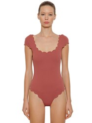 Marysia Mexico Maillot One Piece Swimsuit Dark Pink