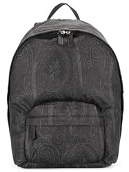 Etro Tonal Print Backpack Black