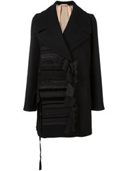 N 21 No21 Knot Detail Oversized Coat Black