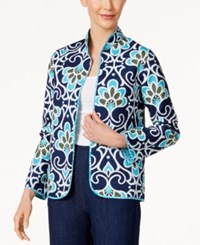 Alfred Dunner Scenic Route Reversible Quilted Jacket Multi