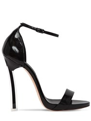Casadei 120Mm Techno Blade Naplack Sandals Black