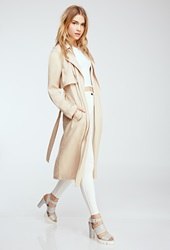 Forever 21 Draped Trench Coat Taupe