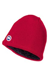 Canada Goose Men's Merino Wool Beanie Red
