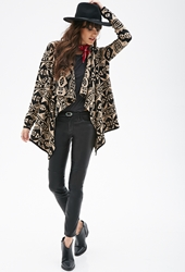 Forever 21 Draped Tribal Pattern Cardigan