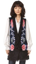 Temperley London Wander Knit Gilet Admiral Blue Mix
