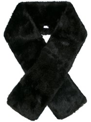 Carven Faux Fur Scarf Black