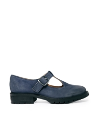 Bertie Lully T Bar Leather Flat Shoes