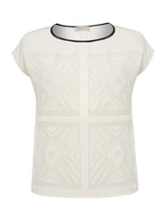 Label Lab Laser Cut Woven Tee Off White