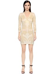Just Cavalli Micro Studded Viscose Jersey Dress